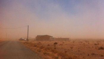 A dust storm near Winslow, Arizona