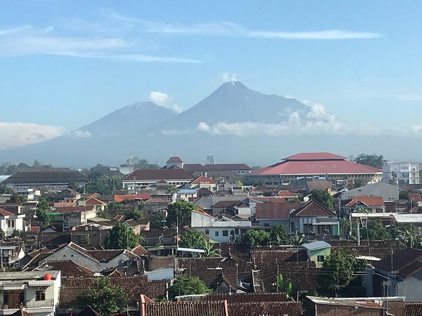 Java's Mount Merapi and Mount Merbabu volcanoes