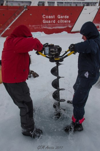 Oceanographic research using ice-tethered profiler buoy
