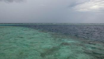 A horizon on the ocean