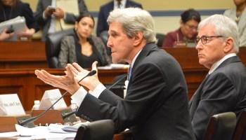 John Kerry and Chuck Hagel testify before Congress.