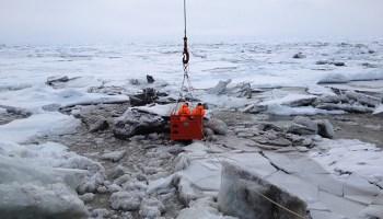 Scientists in Arctic
