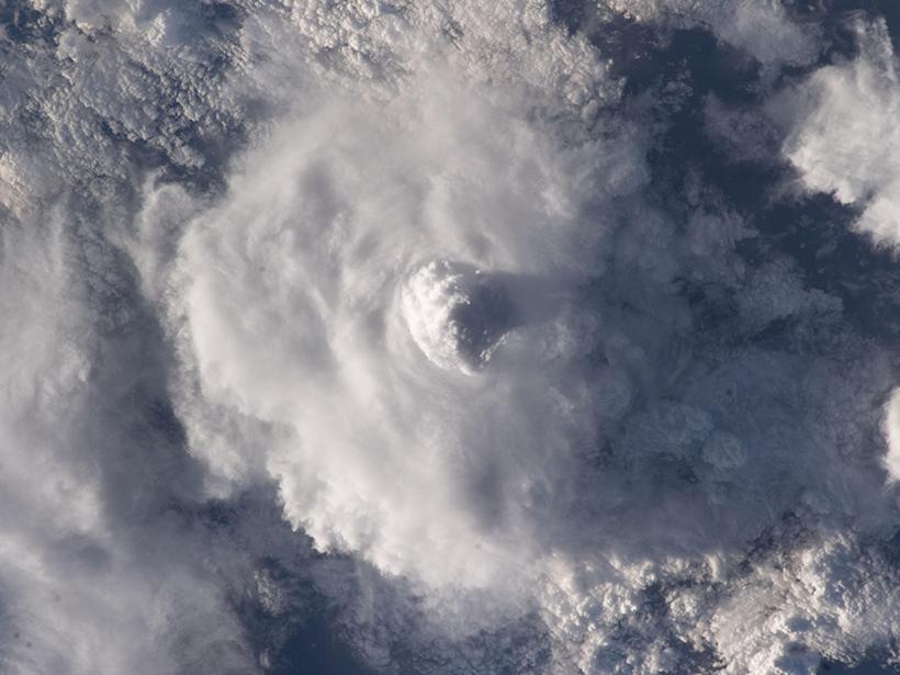 Satellite image of a cumulonimbus cloud