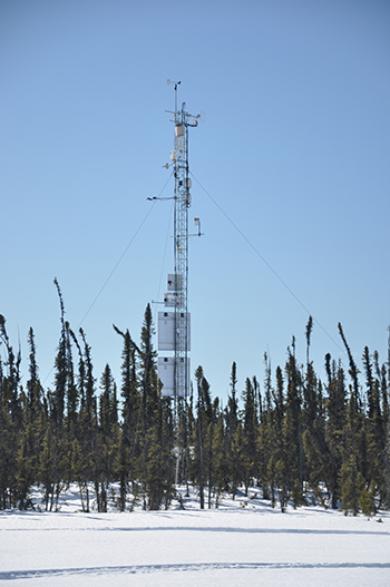 A fully instrumented eddy covariance tower at Scotty Creek Research Station near Fort Simpson, Northwest Territories, Canada