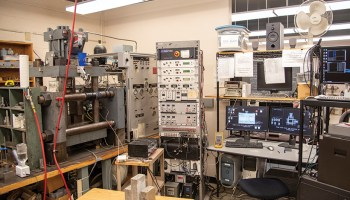 The biaxial earthquake machine at Pennsylvania State University.