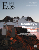 Cover of January 2020 issue of Eos