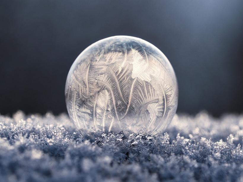 frost on frozen bubble