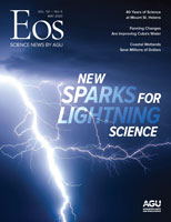 Cover of May 2020 issue of Eos