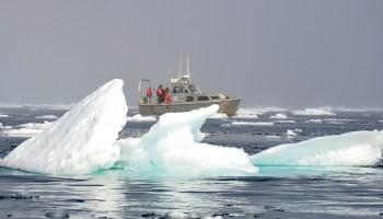 Research vessel in the Arctic Ocean