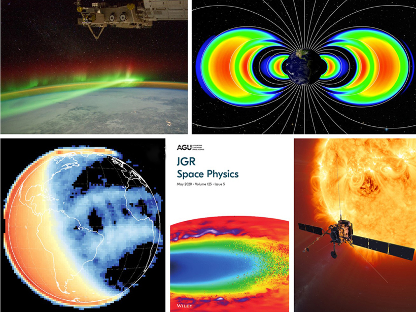 Collage of space physics images