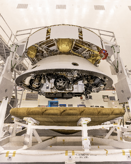 The Perseverance rover being prepared for launch on 28 May 2020 at Kennedy Space Center