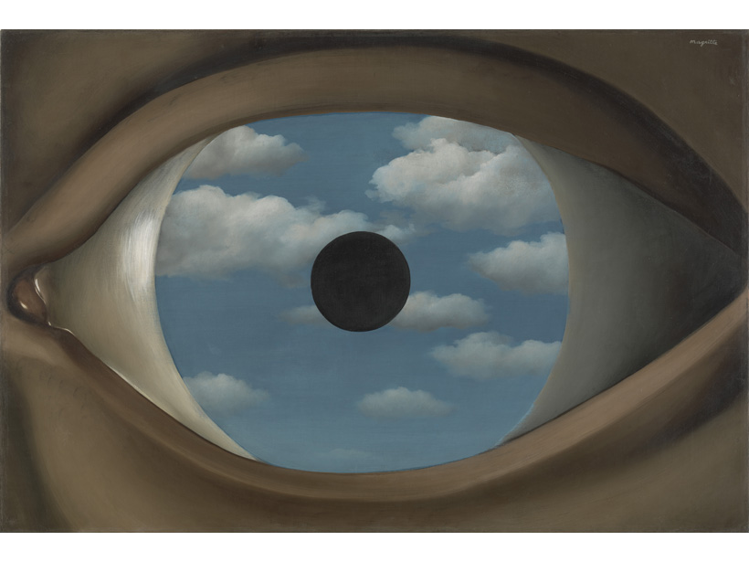 """Painting called """"The False Mirror"""" by Rene Magritte"""