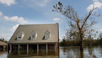 A flooded home in Braithwaite, La., after Hurricane Isaac in 2012