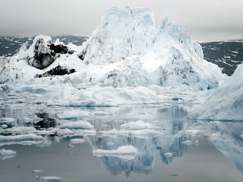 Ice on the west coast of Greenland