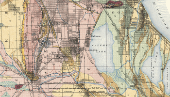 Historic 1902 map of Calumet Quadrangle near Chicago