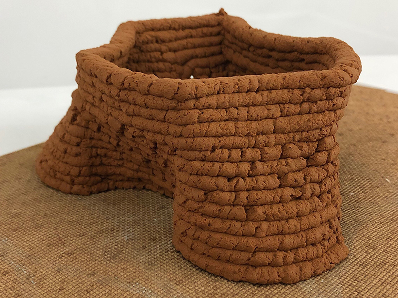 Prototype structure made from the soil-based concrete replacement