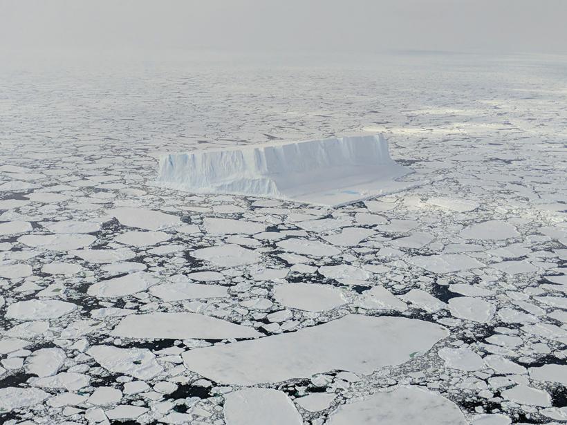 Tabular iceberg on the Sabrina Coast, East Antarctica