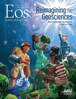 Cover of the November-December 2020 issue of Eos