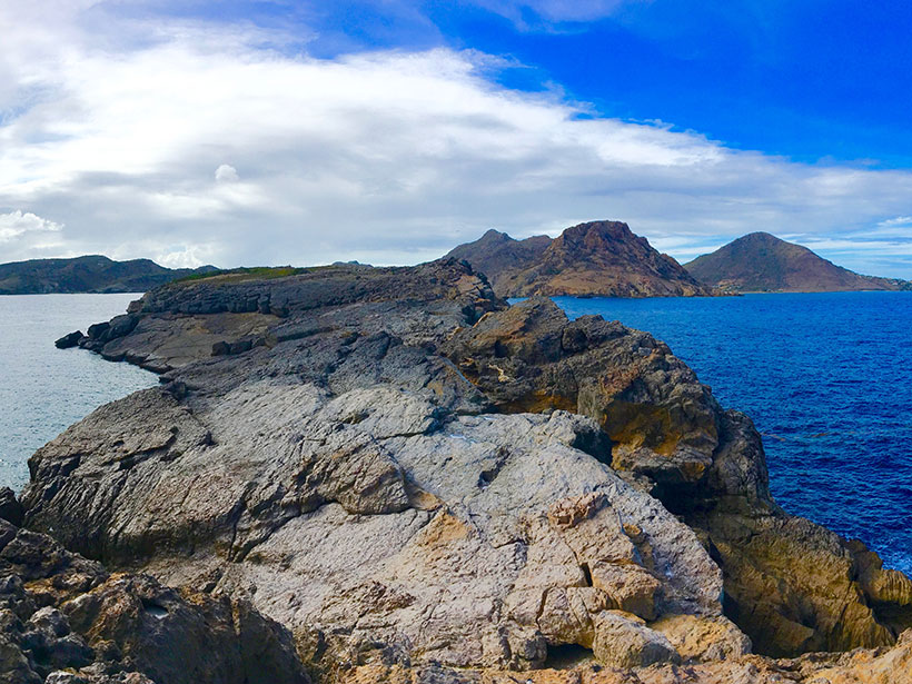 St. Barthélemy Island, viewed from the Coco Islet