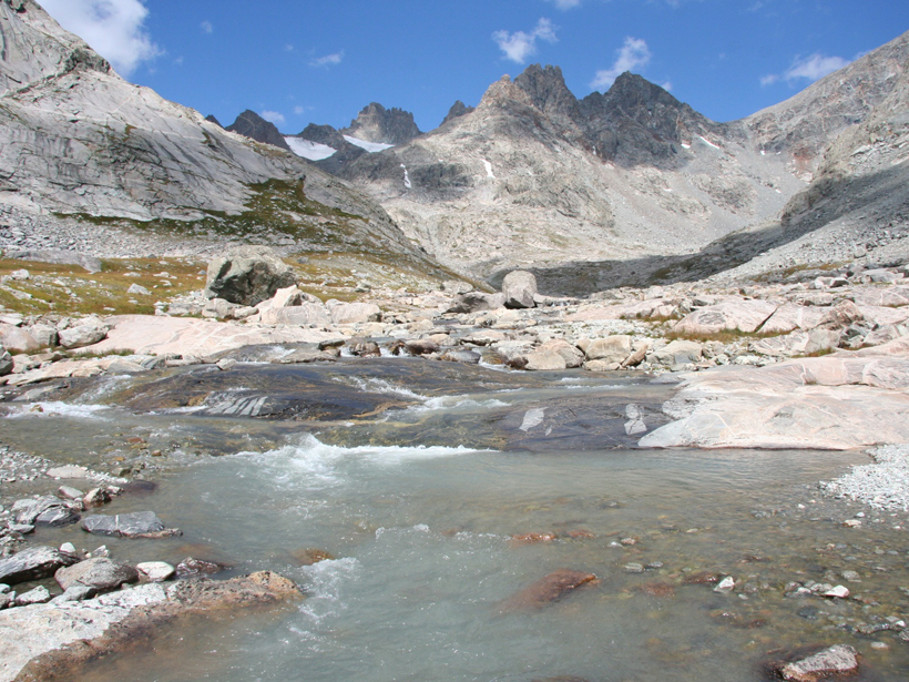 Photograph of a river in the Wind River Range, Wyoming