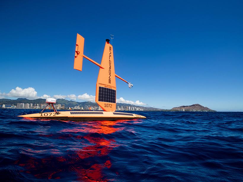 A saildrone off the coast of Hawaii