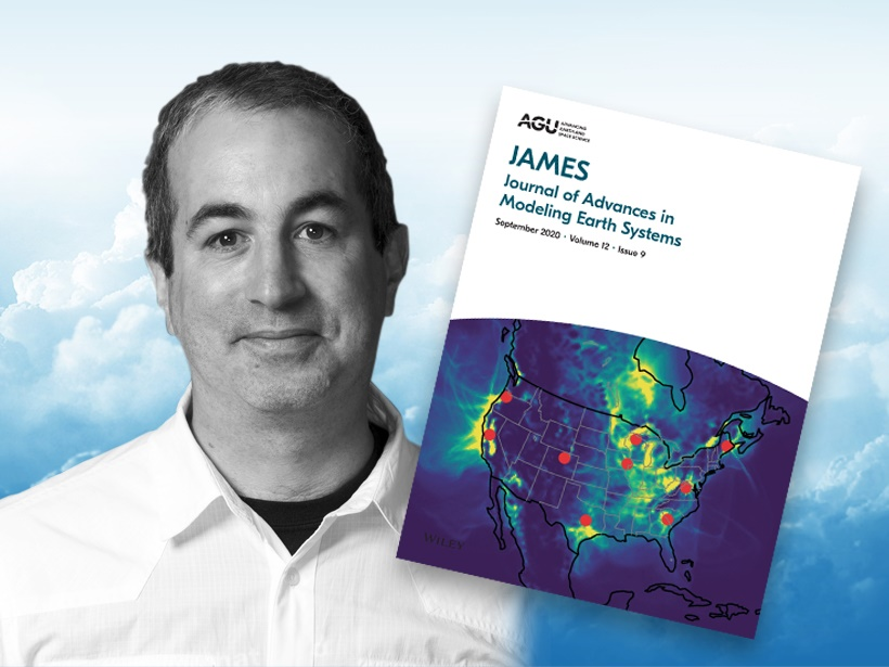 A photo of Robert Pincus and a JAMES cover.