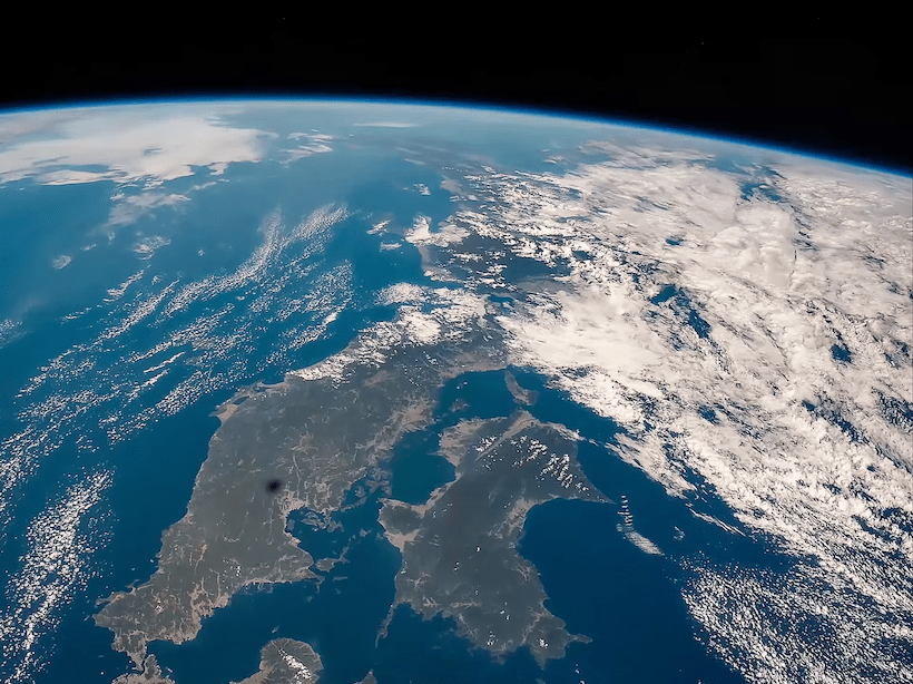 Photo taken from the International Space Station of Shikoku Island and other parts of Japan