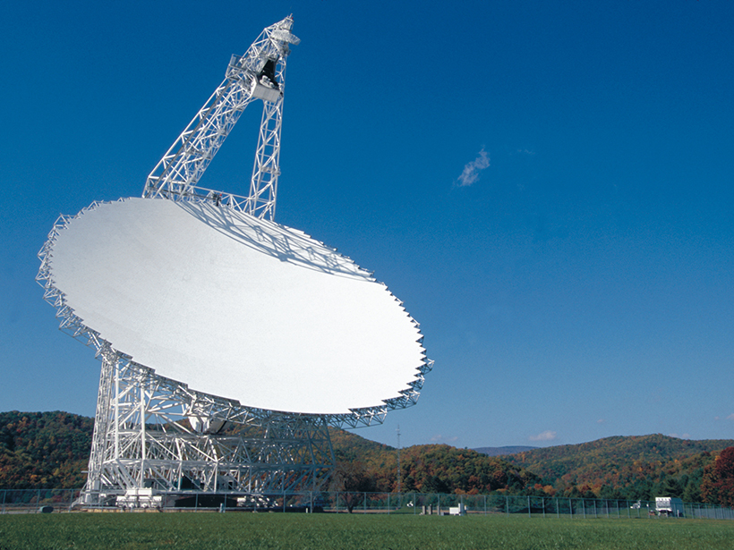 The Robert C. Byrd Green Bank Telescope at the Green Bank Observatory in West Virginia