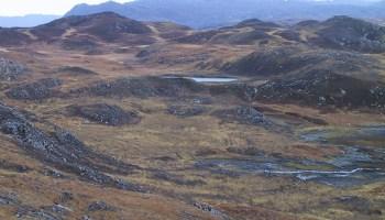 Isolation lake in northwestern Scotland