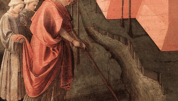Filippo Lippi painting of St. Fridianus redirecting the course of the Serchio River