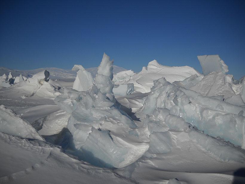 Sea ice off the coast of Antarctica
