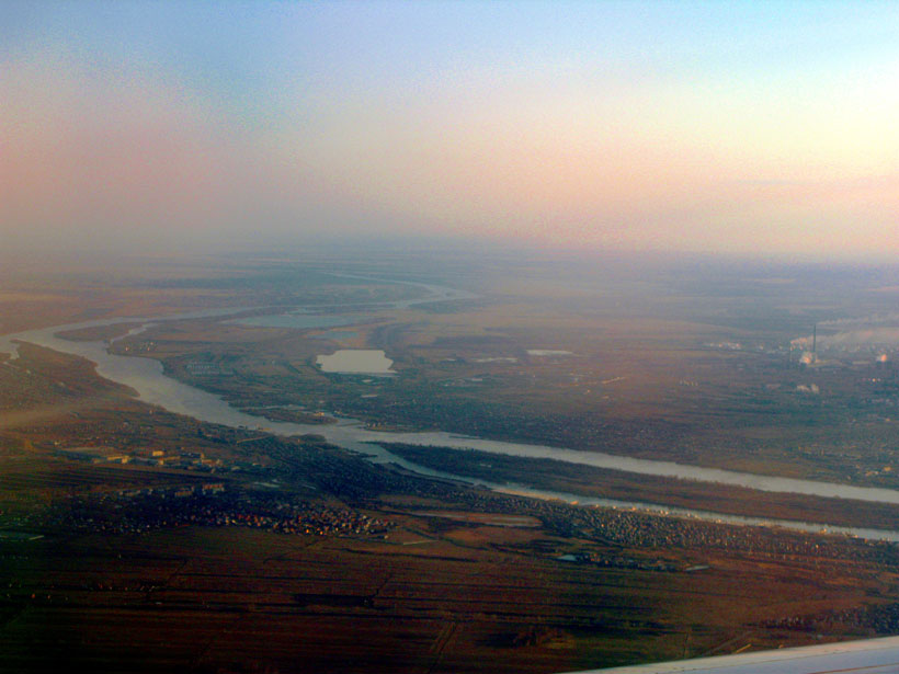 Irtysh River flowing through Siberia.