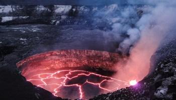 A view of Kīlauea's summit lava lake