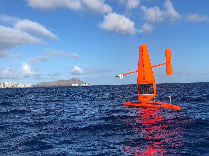 Saildrone uncrewed sailing vehicle