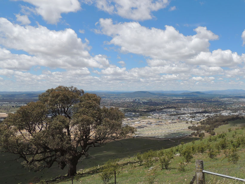 Part of Canberra, Australia, where scientists have been using geochemical analysis to develop a predictive soil provenancing method.
