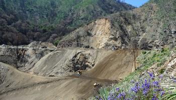 Highway near Los Angeles damaged after heavy rain