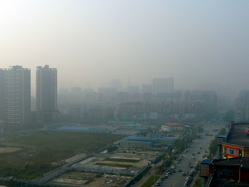 Extreme smog over Shenzhen, China