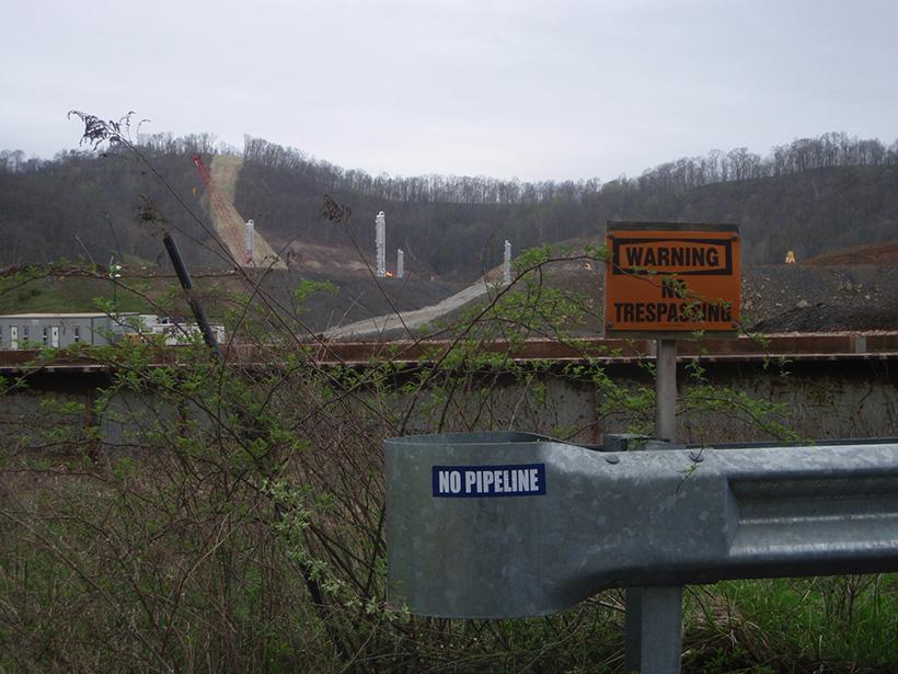 西弗吉尼亚州的天然气管道地役权。