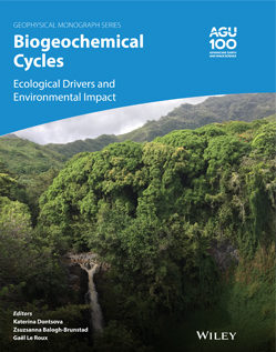 Front cover of the book Biogeochemical Cycles: Ecological Drivers and Environmental Impact