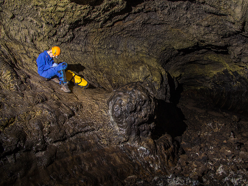 Lava tubes at Lava Beds National Monument in California