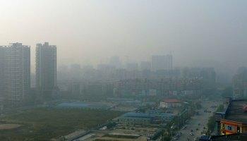 Smog extremo sobre Shenzhen, China