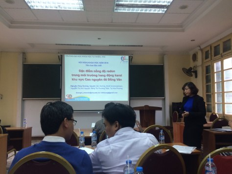 Duong presented her research at the Biennial Conference at Faculty of Geology, VNU University of Science, November 24, 2016, in Hanoi, Vietnam.
