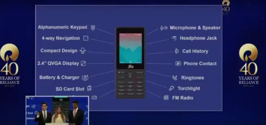 JioPhone specifications