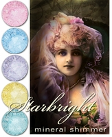 25% OFF Sale through 11:59 PM EST 2/5 ~ STARBRIGHT Gothic Lolita Mineral Shimmer- 7 whimsical, sparkling shades