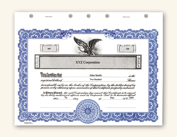 Stock Certificate Template Free stock certificate template doc – Blank Stock Certificate Template Free