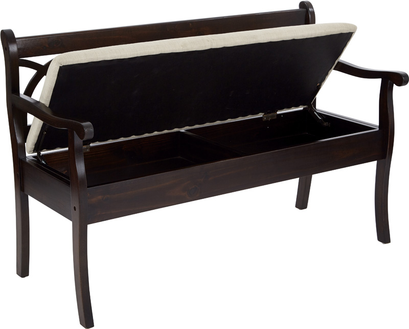 OSP Designs Coventry Storage Bench With Seat Cushion