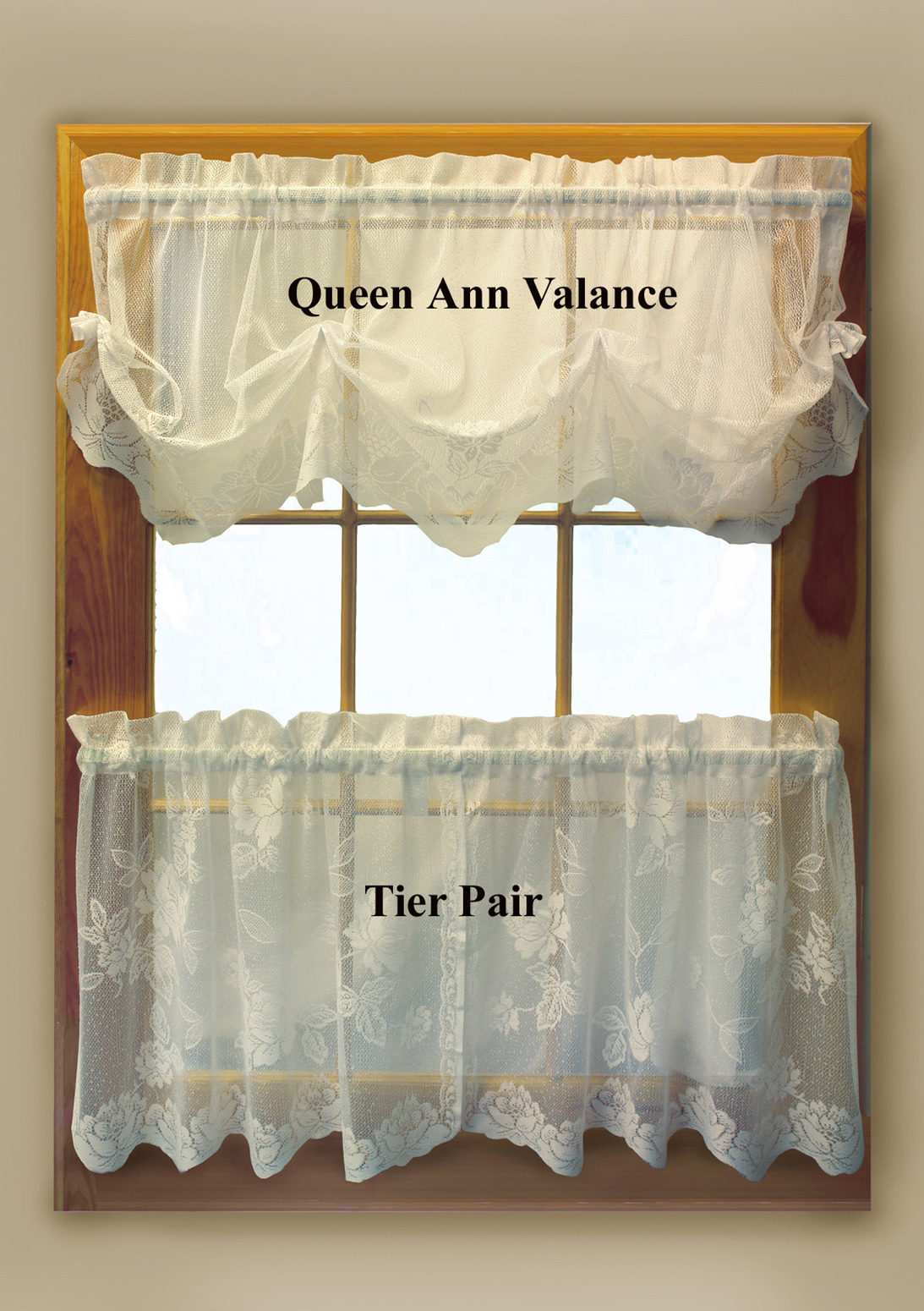 Leeanne Lace Tier Curtains