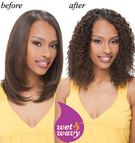 janet collection indian remi wet wavy human hair water deep weave 10 16 inch wet n wavy
