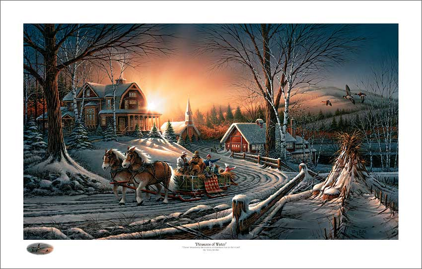 Terry Redlin Holiday Limited Edition Christmas PrintThe