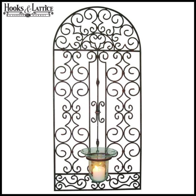 Iron Garden Gate Wall Decor Decorating Ideas